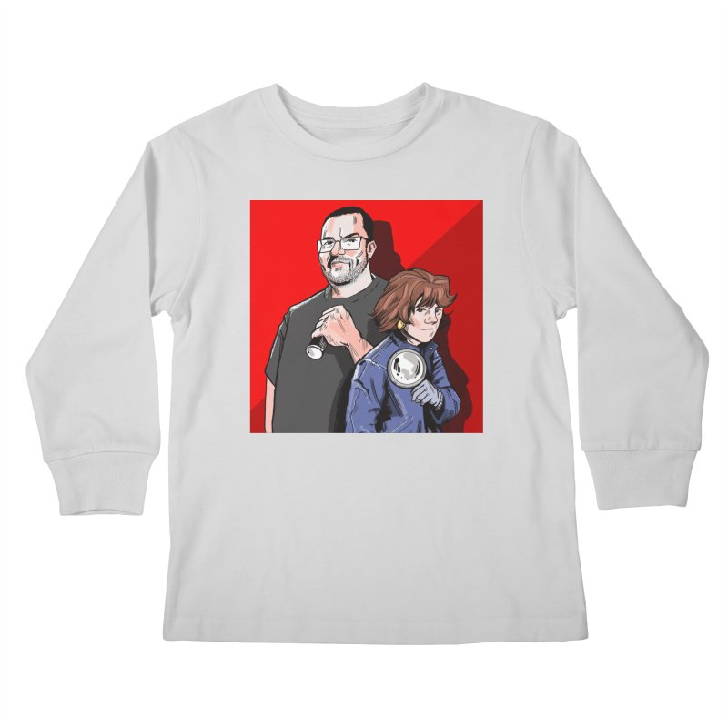 Logo (Square Red) Kids Longsleeve T-Shirt by Out of the Shadows's Store