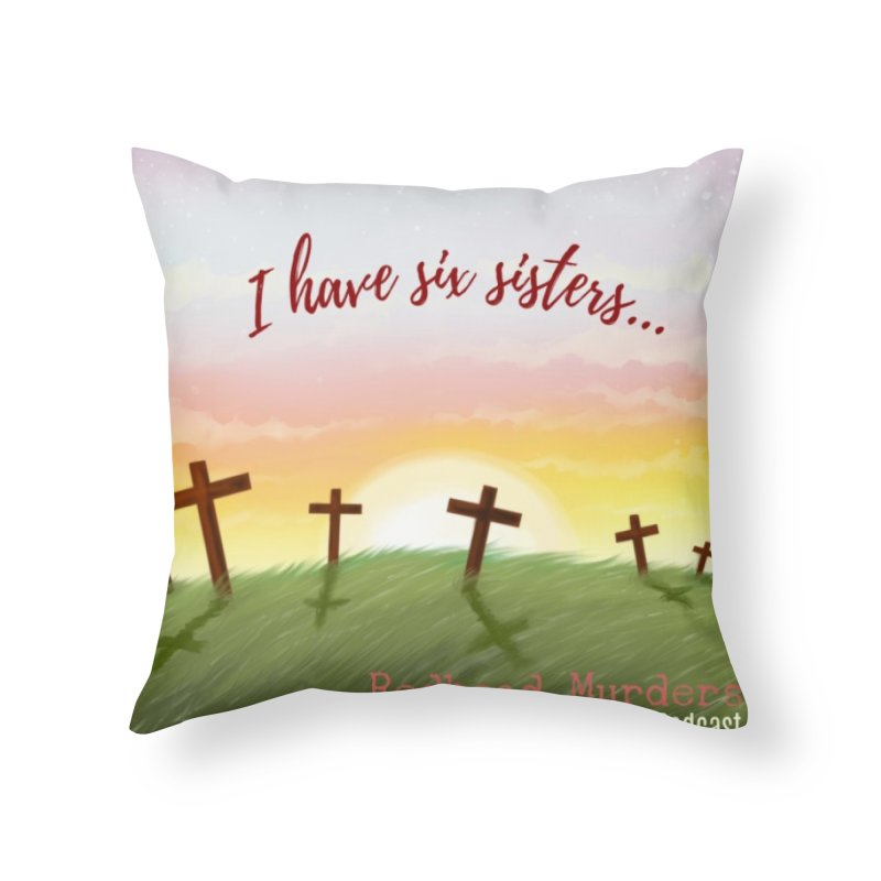 Redhead Murders Home Throw Pillow by Out of the Shadows's Store