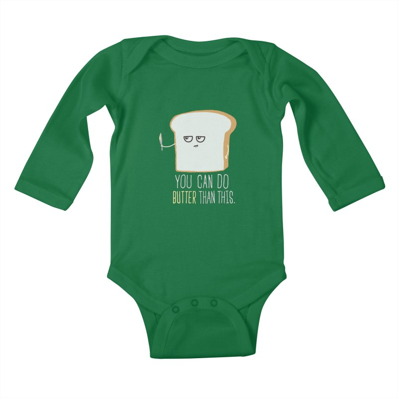 You can do Butter! Kids Baby Longsleeve Bodysuit by shadyjibes's Shop