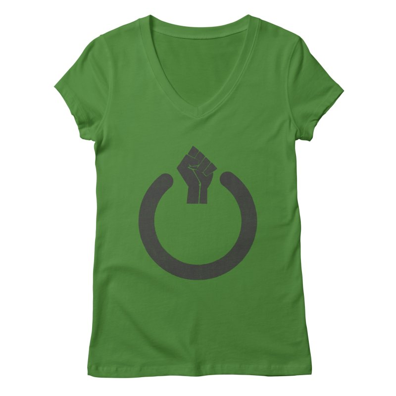 Fight the Power! Women's V-Neck by shadyjibes's Shop