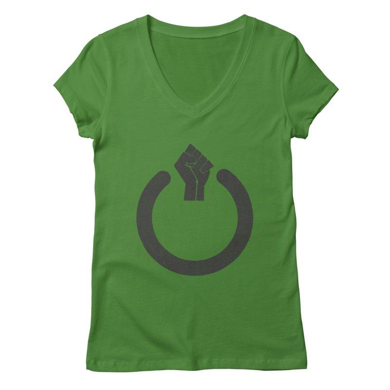 Fight the Power! Women's Regular V-Neck by shadyjibes's Shop