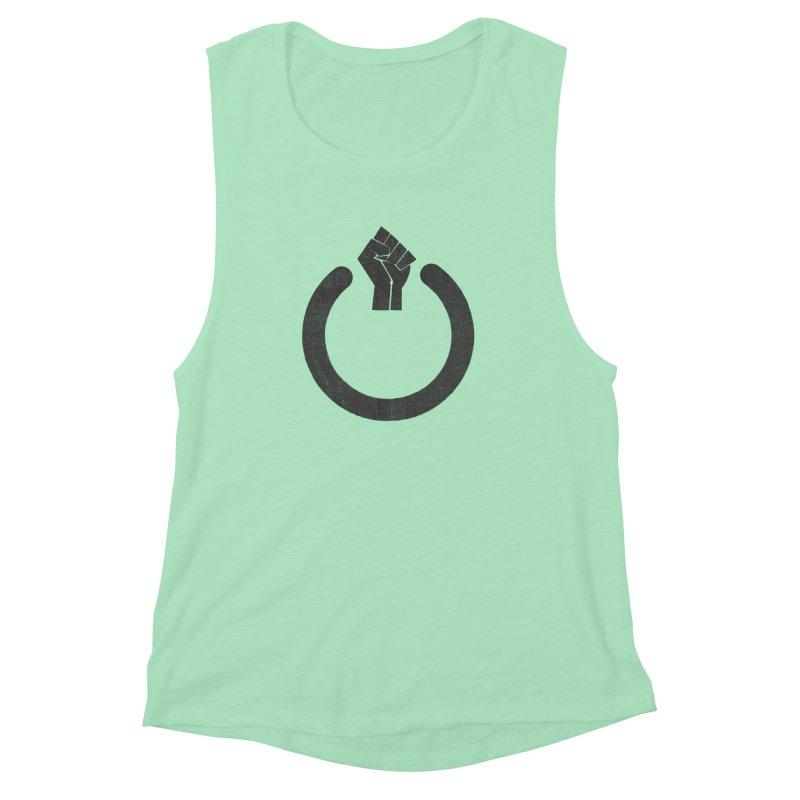 Fight the Power! Women's Muscle Tank by shadyjibes's Shop