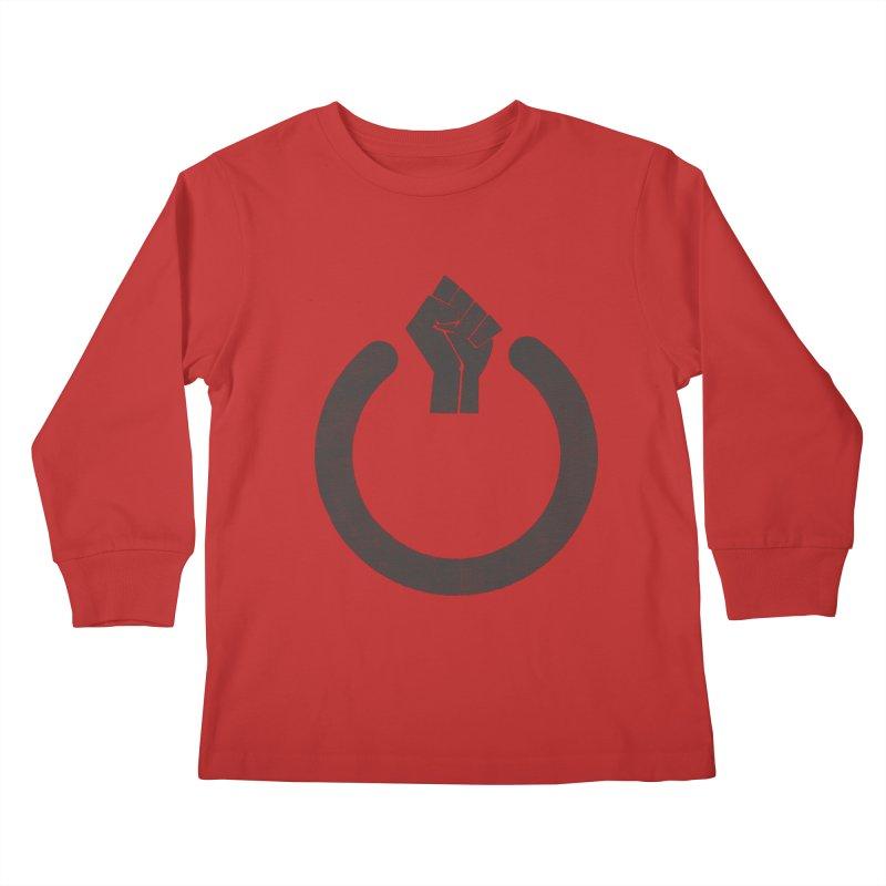 Fight the Power! Kids Longsleeve T-Shirt by shadyjibes's Shop