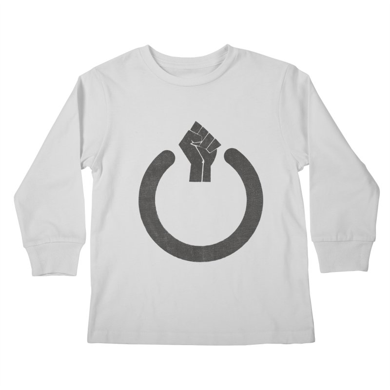 Fight the Power! Kids Longsleeve T-Shirt by shadyjibes's Shop