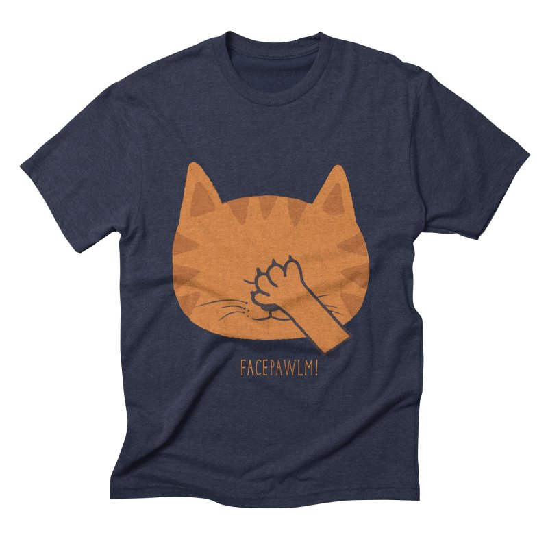 Facepawlm in Men's Triblend T-shirt Navy by shadyjibes's Shop
