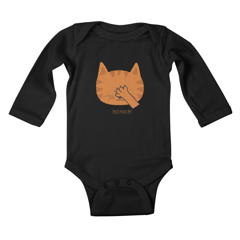 Facepawlm Kids Baby Longsleeve Bodysuit by shadyjibes's Shop