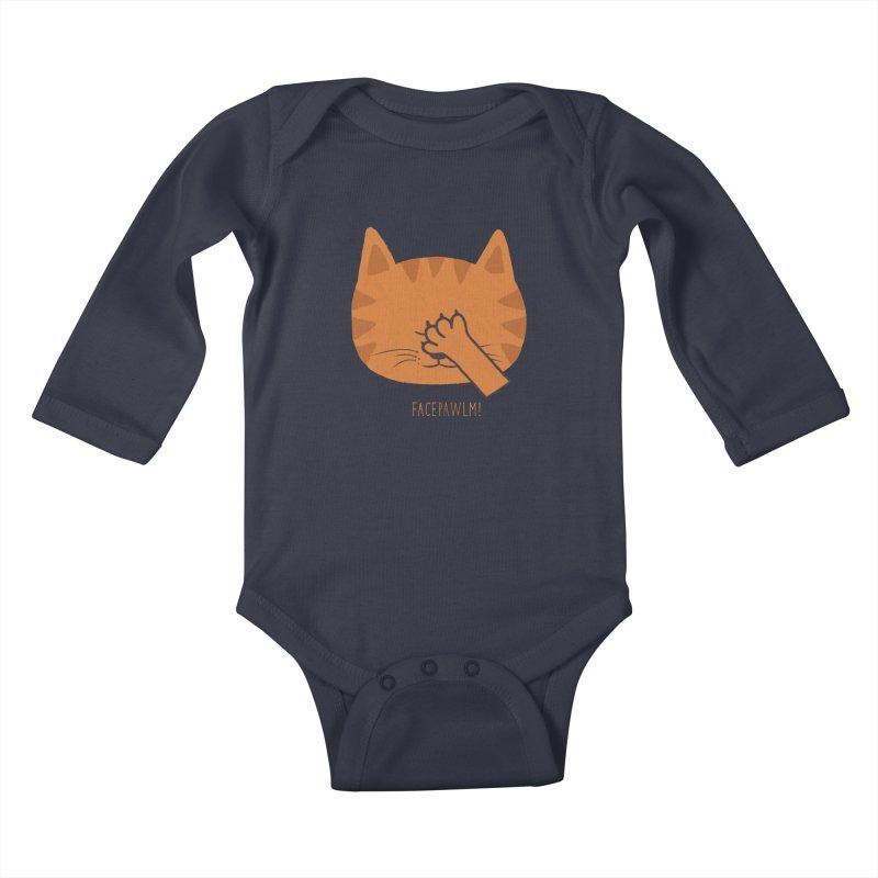 Facepawlm Kids Baby Longsleeve Bodysuit by shadyjibes's Shop