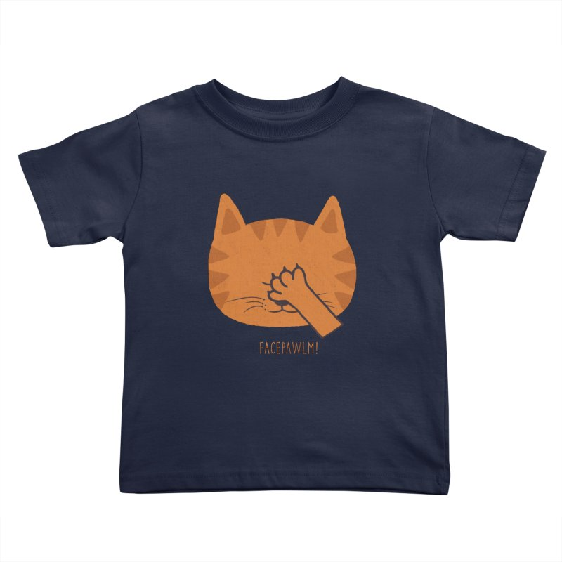 Facepawlm Kids Toddler T-Shirt by shadyjibes's Shop