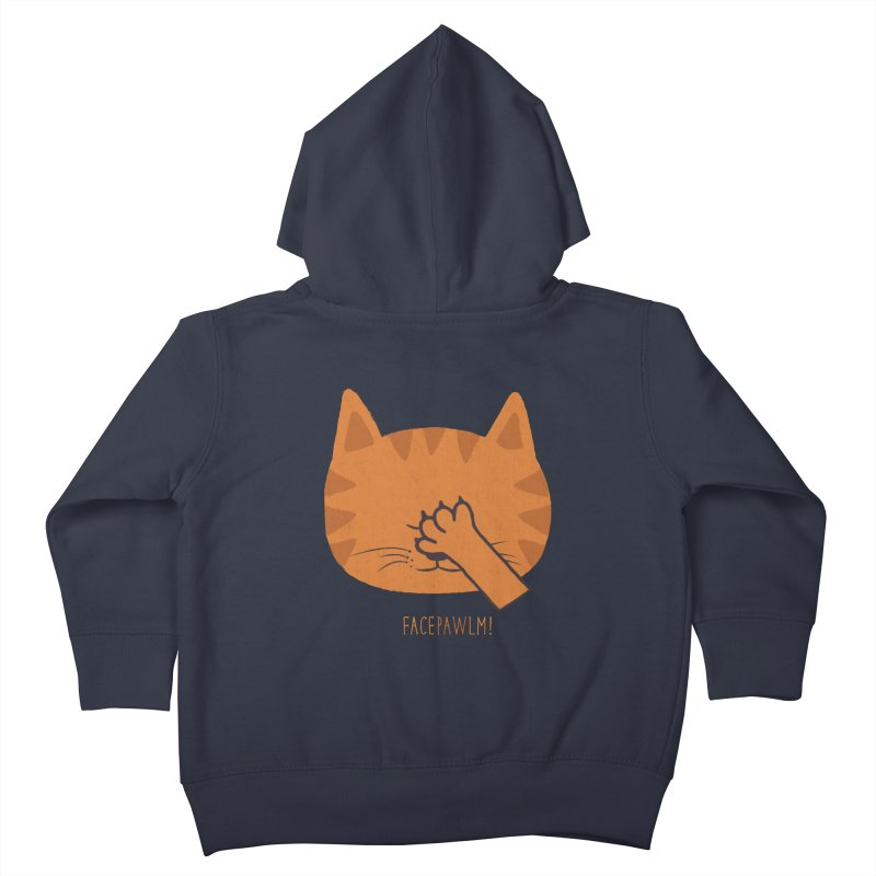 Facepawlm Kids Toddler Zip-Up Hoody by shadyjibes's Shop