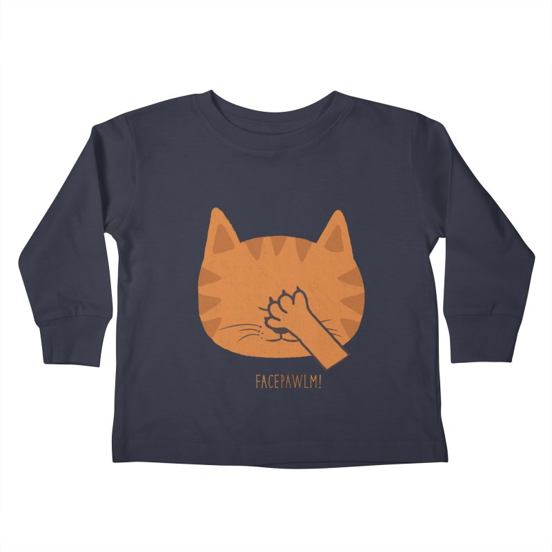 Facepawlm Kids Toddler Longsleeve T-Shirt by shadyjibes's Shop
