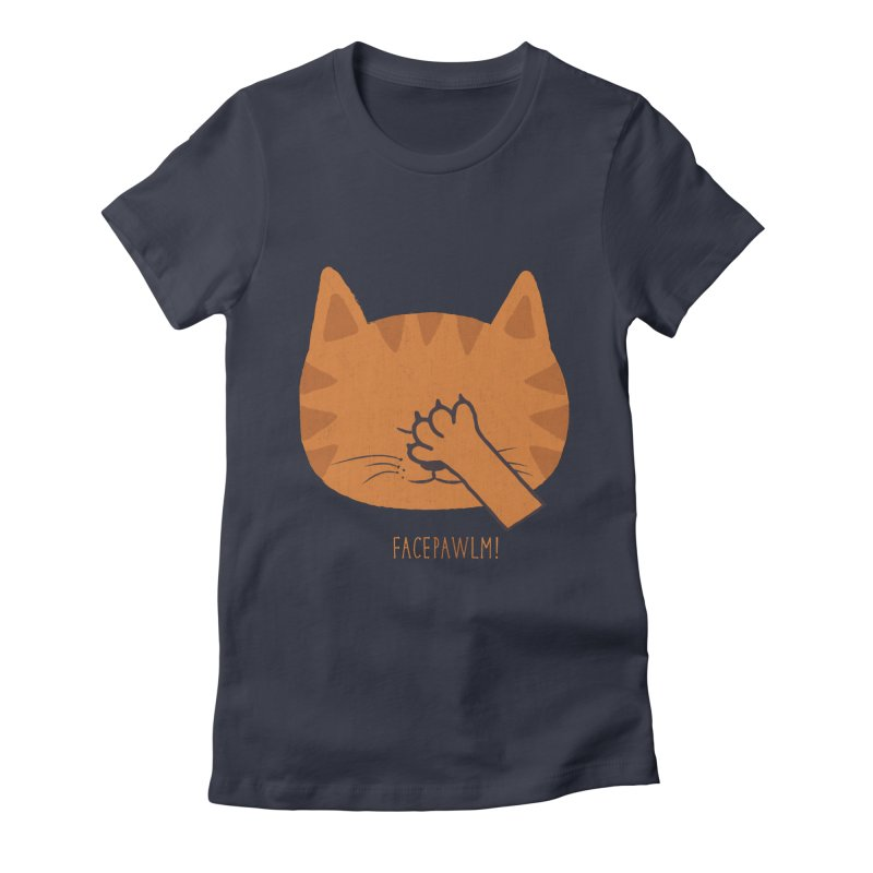 Facepawlm Women's Fitted T-Shirt by shadyjibes's Shop
