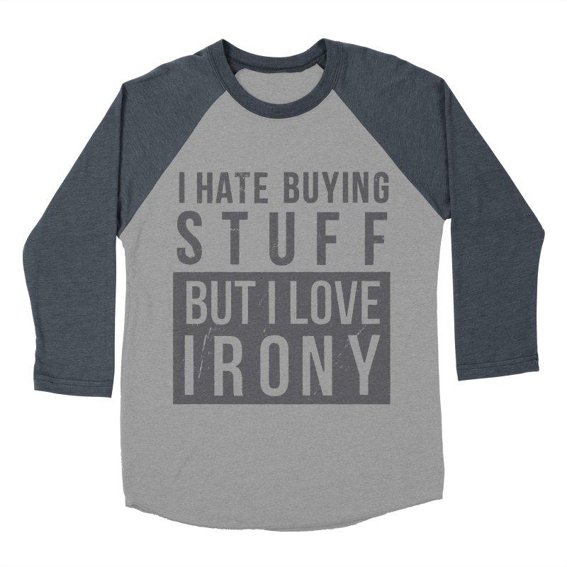 Ironic Men's Baseball Triblend T-Shirt by shadyjibes's Shop