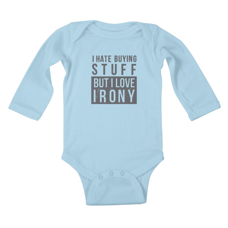 Ironic Kids Baby Longsleeve Bodysuit by shadyjibes's Shop