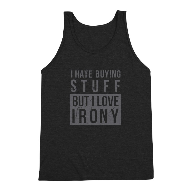 Ironic Men's Triblend Tank by shadyjibes's Shop