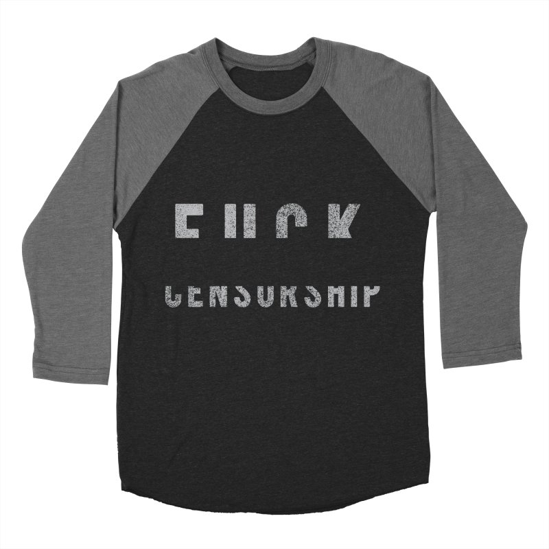 Censored Message Women's Baseball Triblend Longsleeve T-Shirt by shadyjibes's Shop
