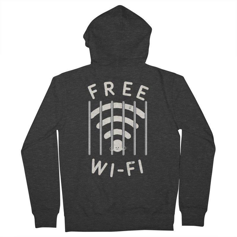 Free Wi-Fi Men's Zip-Up Hoody by shadyjibes's Shop