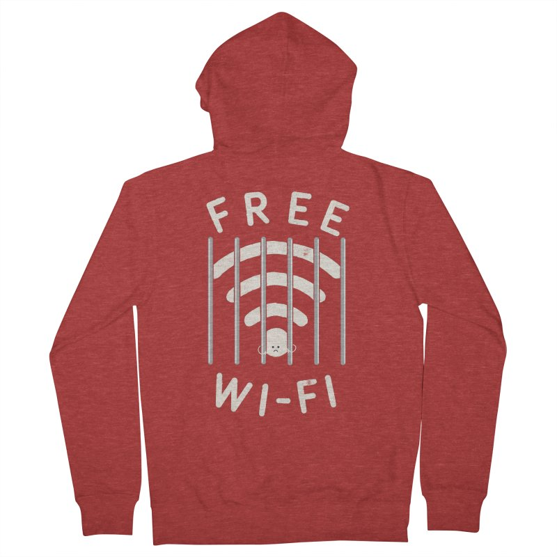 Free Wi-Fi Men's French Terry Zip-Up Hoody by shadyjibes's Shop