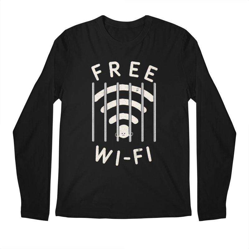 Free Wi-Fi Men's Regular Longsleeve T-Shirt by shadyjibes's Shop