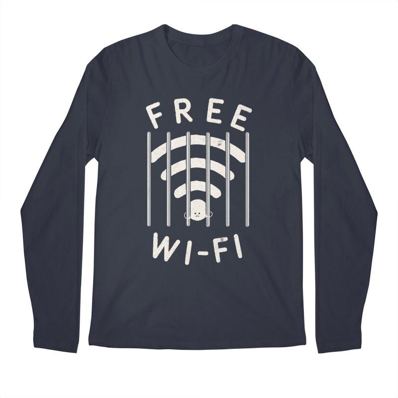 Free Wi-Fi Men's Regular Longsleeve T-Shirt by shadyjibes's Shop