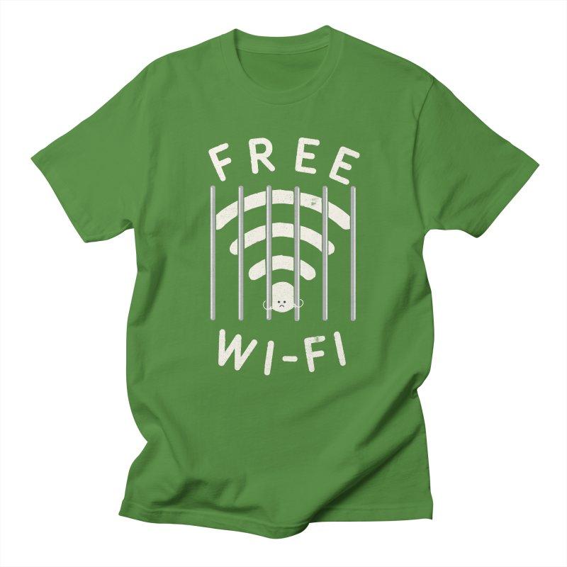 Free Wi-Fi Men's Regular T-Shirt by shadyjibes's Shop