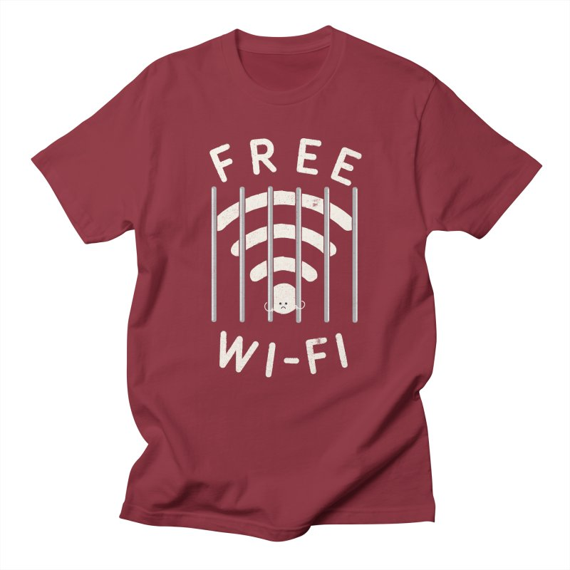 Free Wi-Fi Men's Regular T-Shirt by shadyjibes's Shop