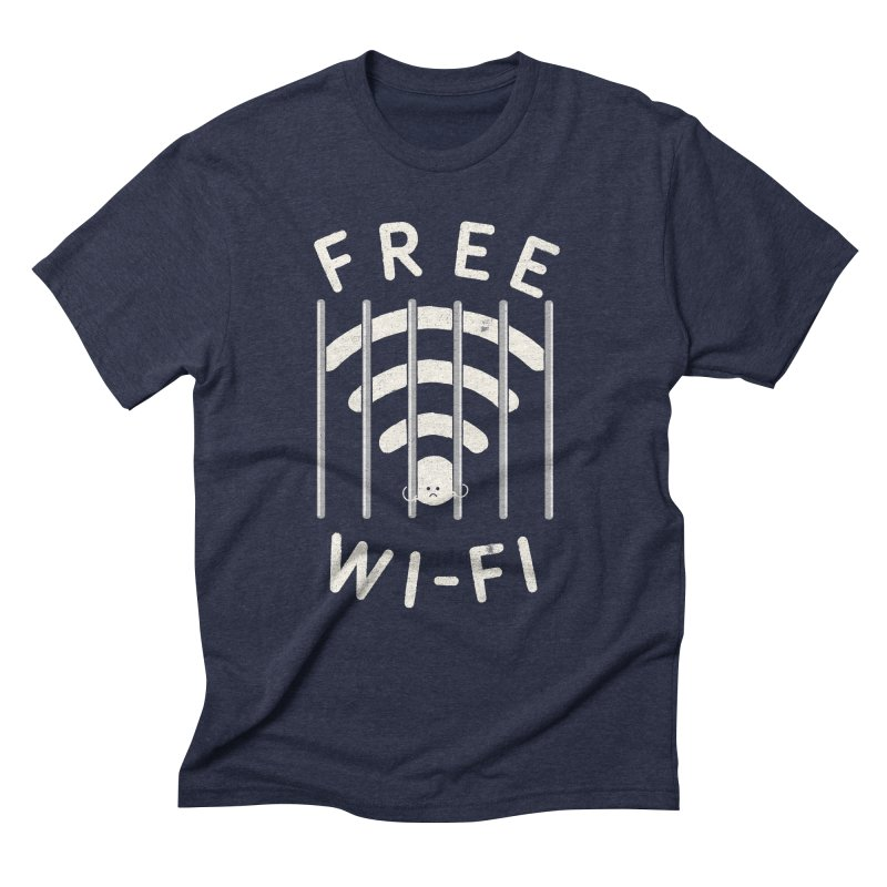 Free Wi-Fi Men's Triblend T-Shirt by shadyjibes's Shop