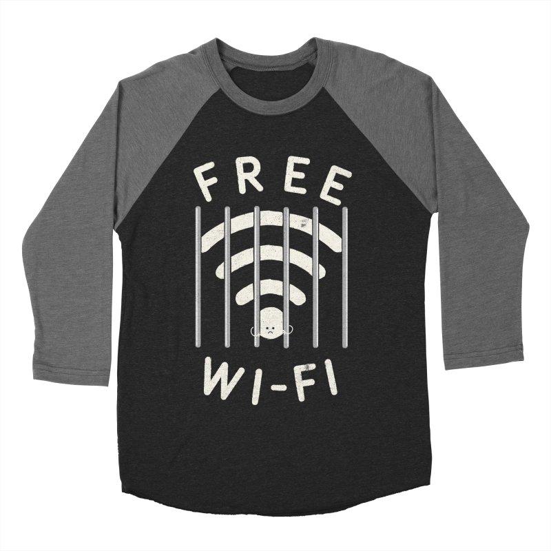 Free Wi-Fi Men's Baseball Triblend T-Shirt by shadyjibes's Shop