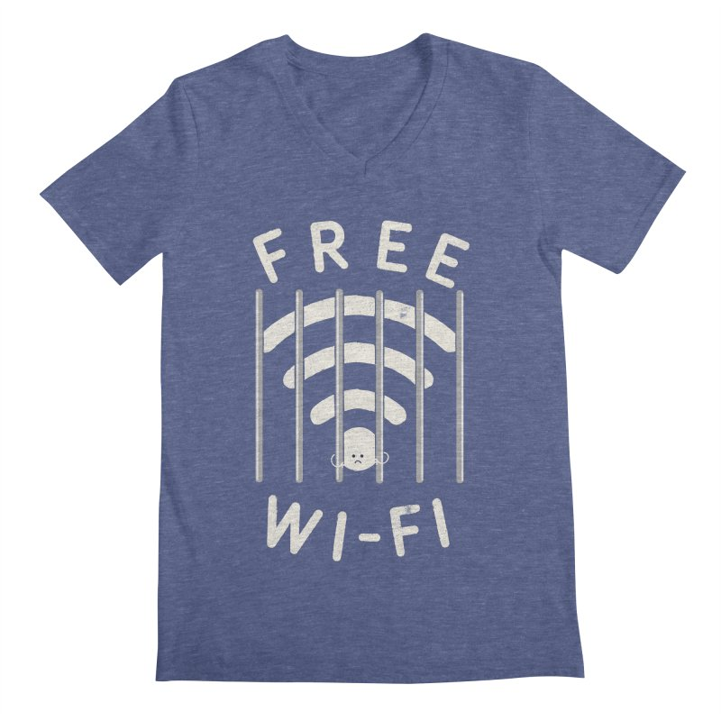 Free Wi-Fi Men's V-Neck by shadyjibes's Shop