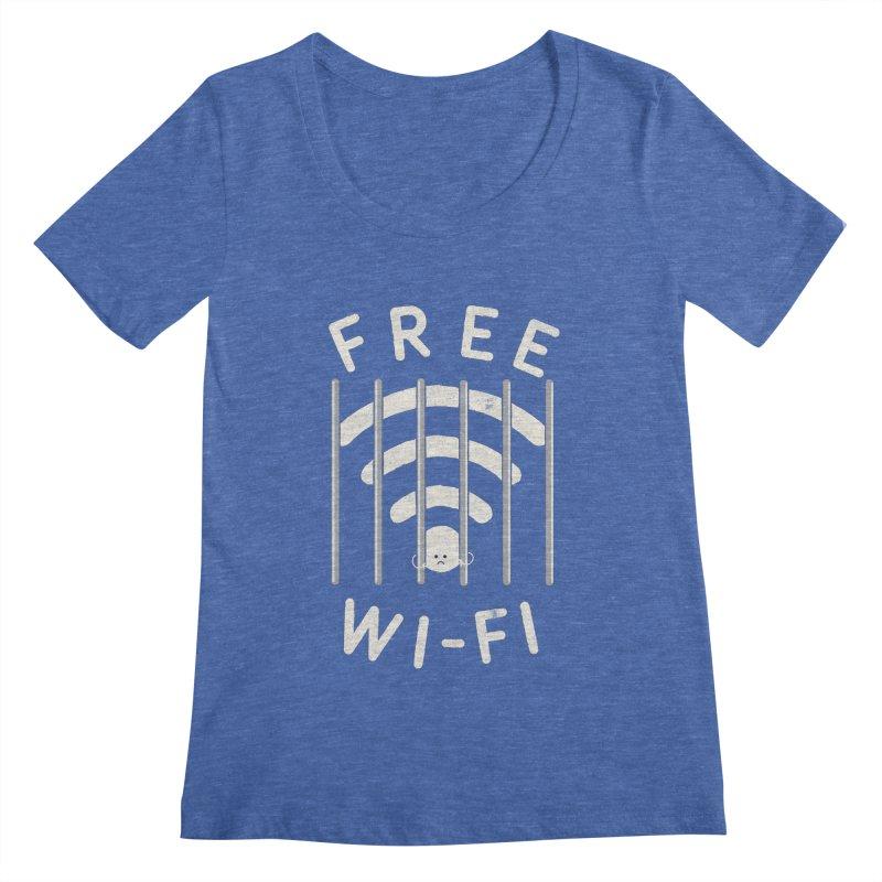 Free Wi-Fi Women's Scoopneck by shadyjibes's Shop