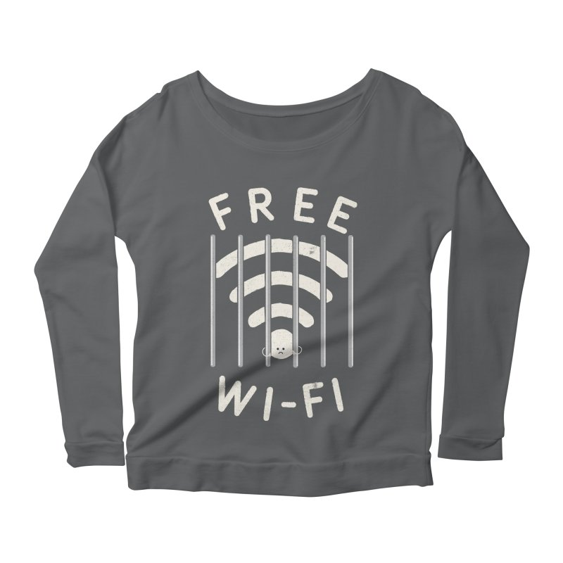 Free Wi-Fi Women's Longsleeve Scoopneck  by shadyjibes's Shop