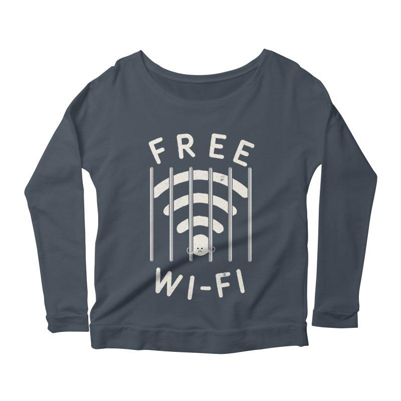 Free Wi-Fi Women's Scoop Neck Longsleeve T-Shirt by shadyjibes's Shop