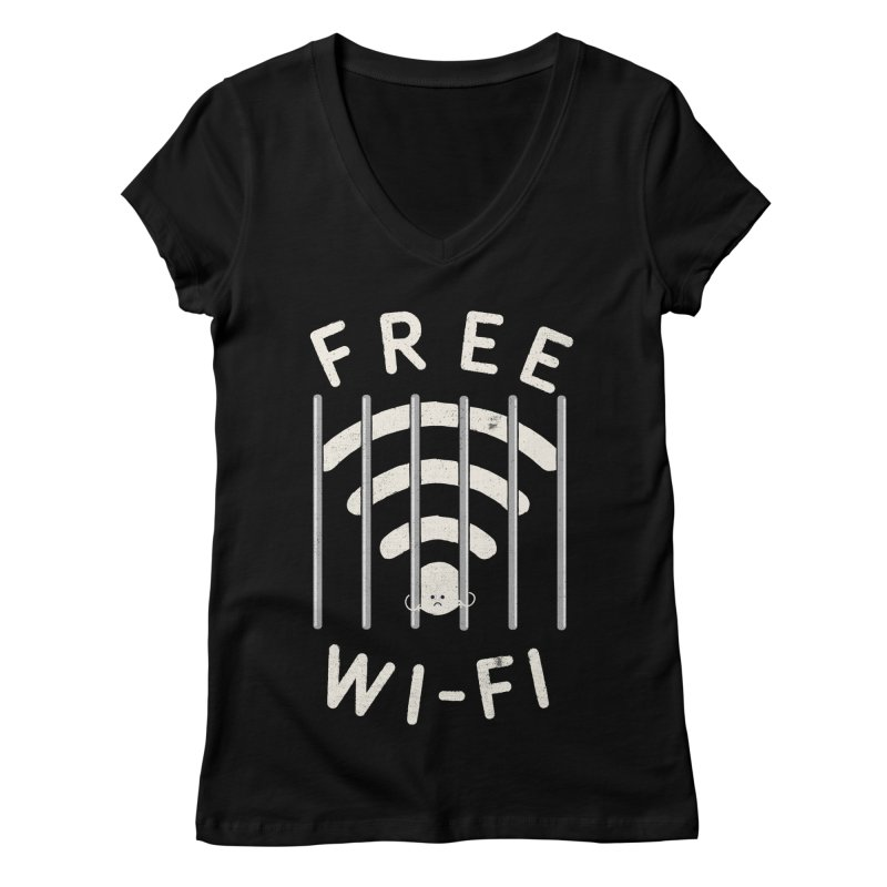 Free Wi-Fi Women's V-Neck by shadyjibes's Shop