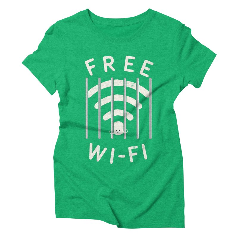 Free Wi-Fi Women's Triblend T-Shirt by shadyjibes's Shop