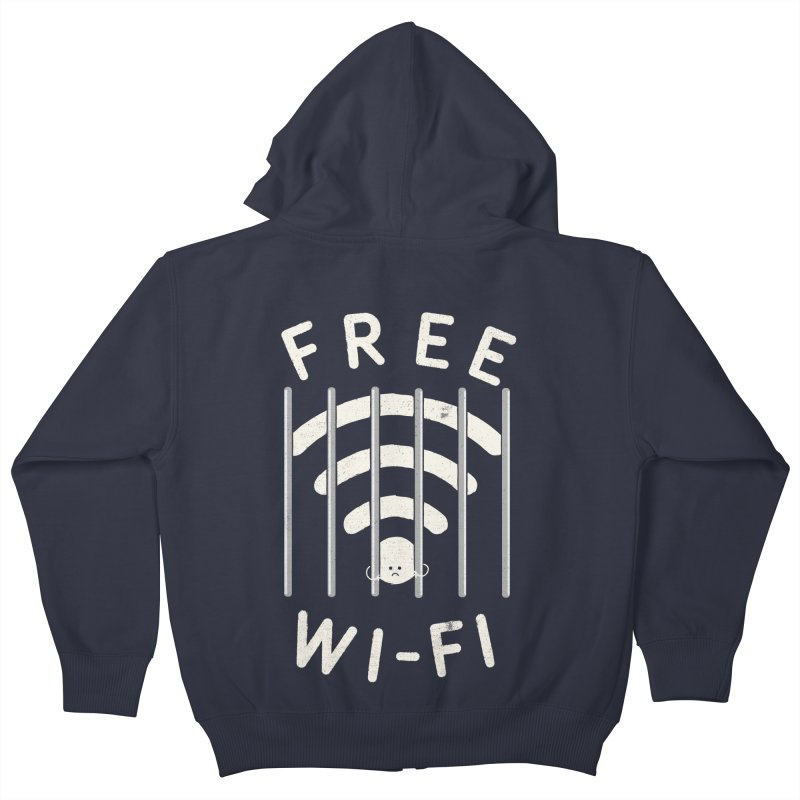 Free Wi-Fi Kids Zip-Up Hoody by shadyjibes's Shop