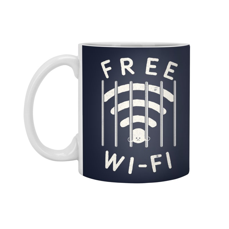 Free Wi-Fi Accessories Mug by shadyjibes's Shop