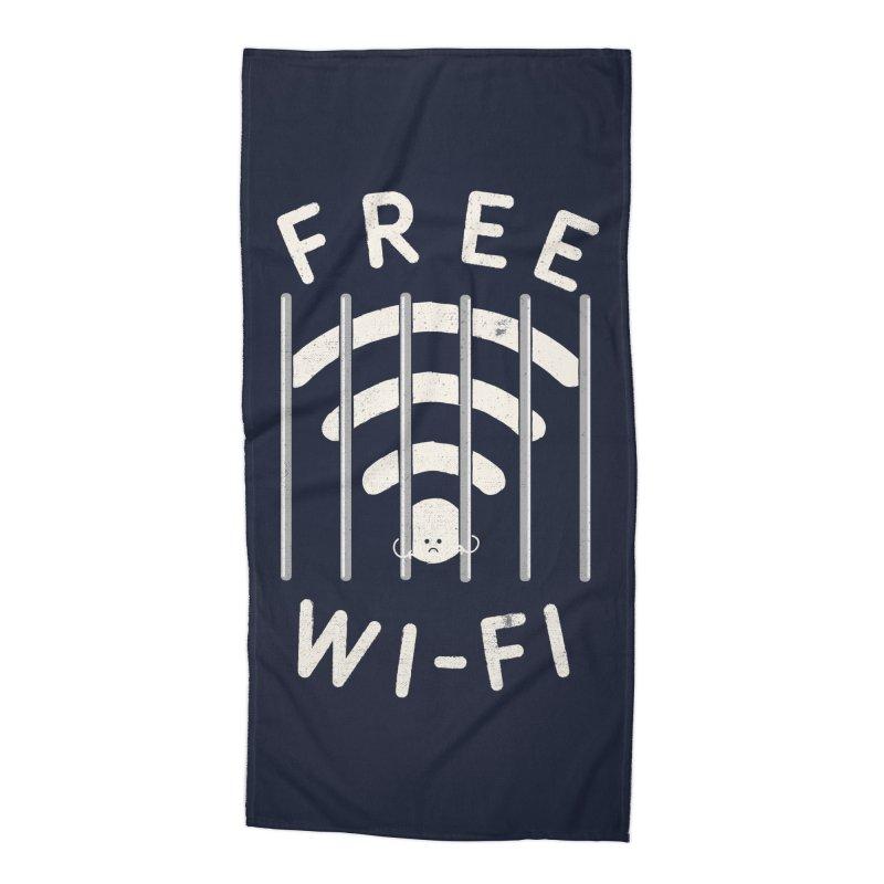Free Wi-Fi Accessories Beach Towel by shadyjibes's Shop