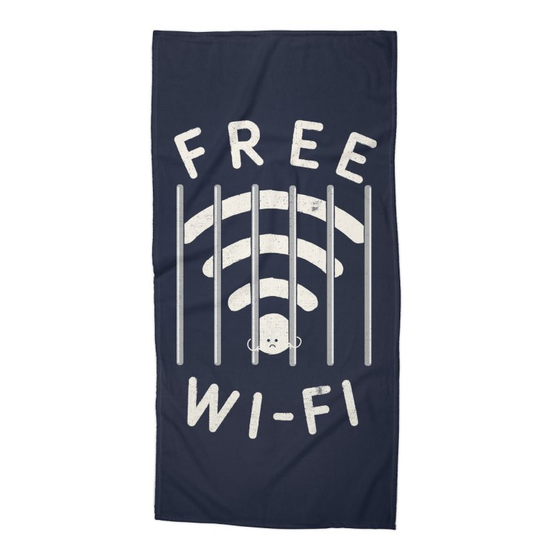 Free Wi-Fi Accessories Beach Towel by shadyjibes's Shop