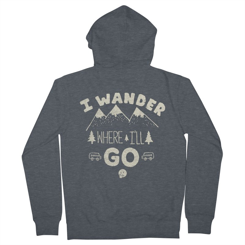 I wander Women's Zip-Up Hoody by shadyjibes's Shop