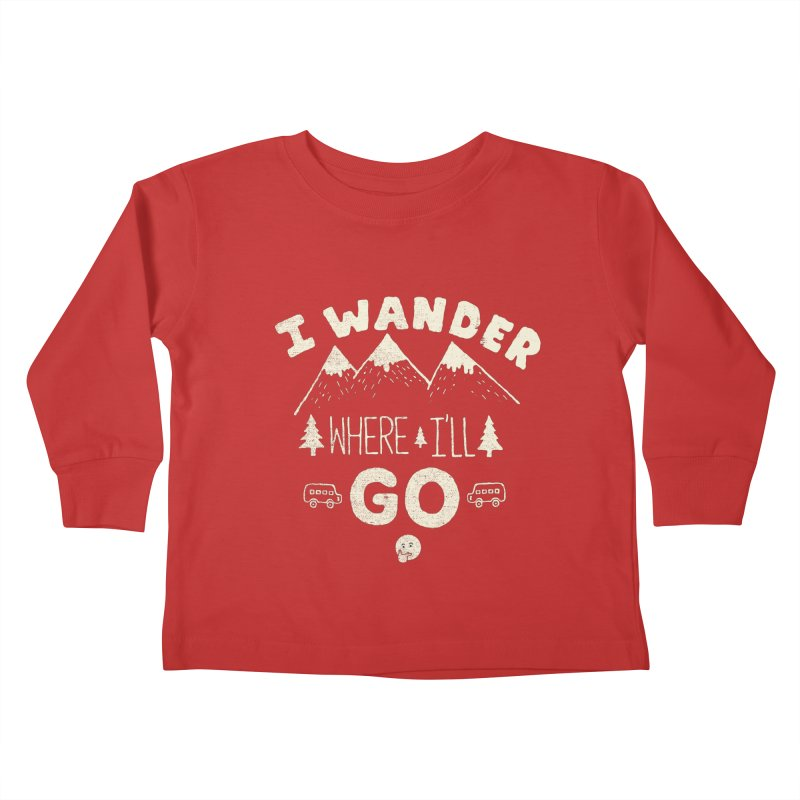 I wander Kids Toddler Longsleeve T-Shirt by shadyjibes's Shop