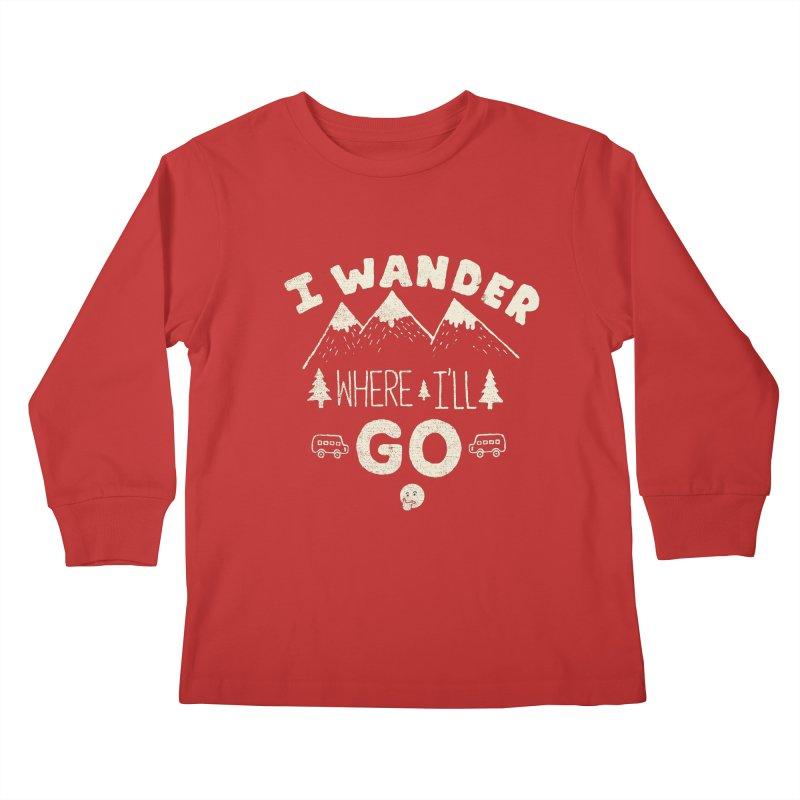 I wander Kids Longsleeve T-Shirt by shadyjibes's Shop