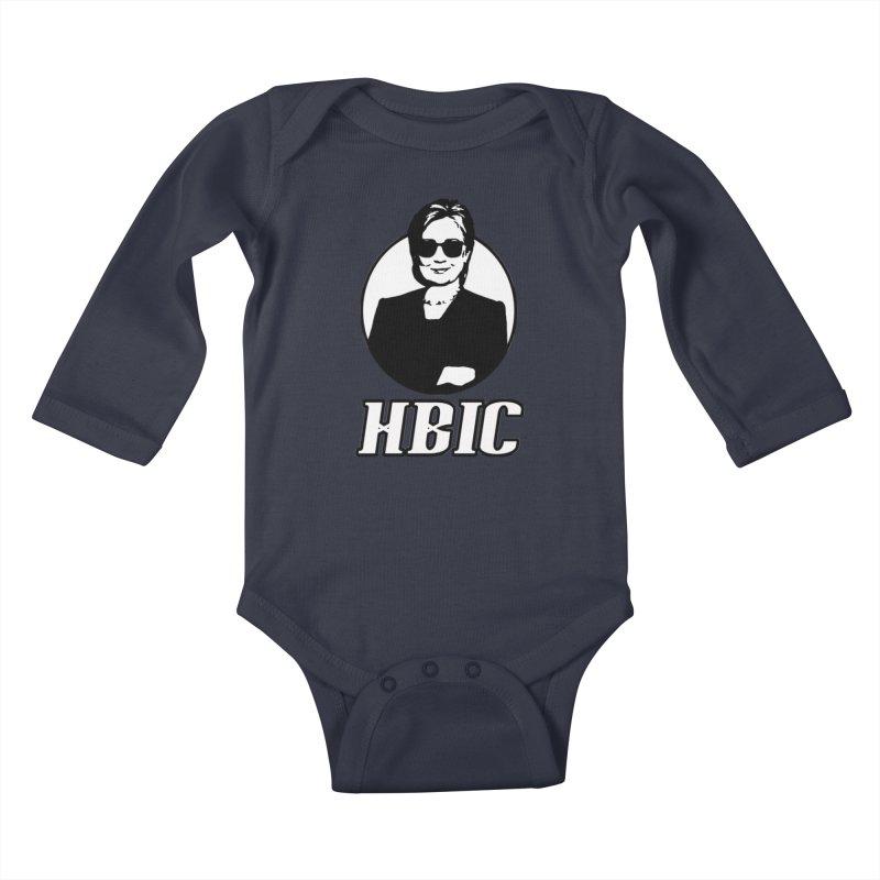 Hillary Clinton HBIC Kids Baby Longsleeve Bodysuit by shaggylocks's Shop