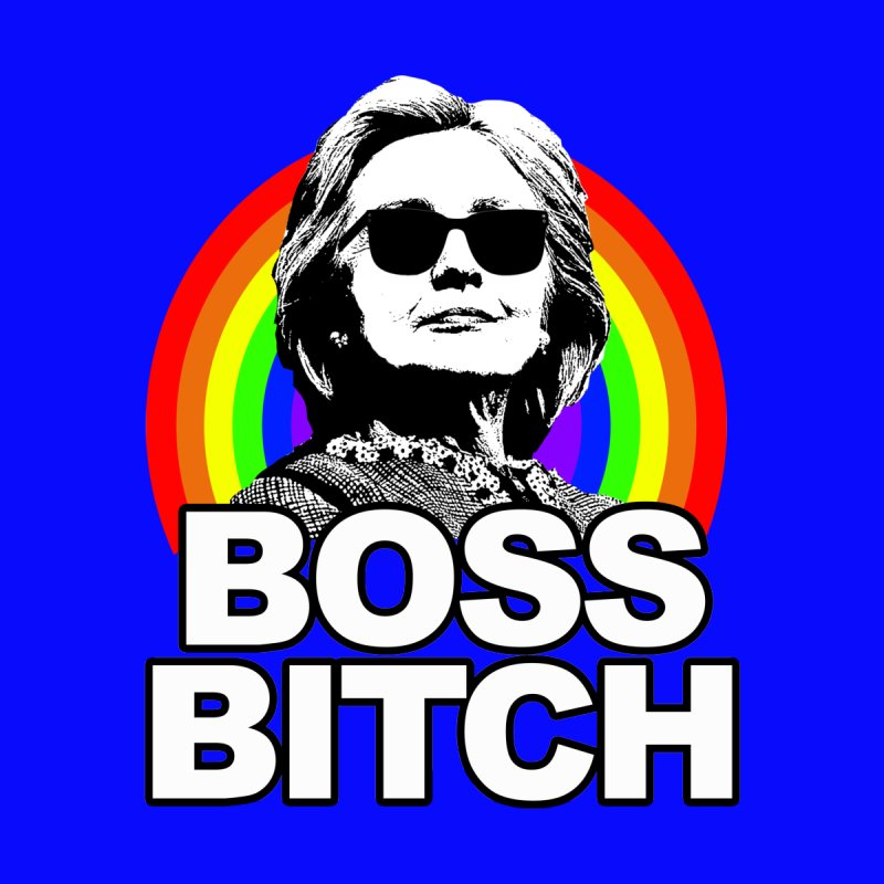 Hillary Clinton Boss Bitch Women's V-Neck by shaggylocks's Shop