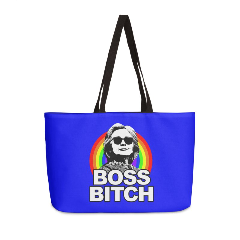 Hillary Clinton Boss Bitch Accessories Bag by shaggylocks's Shop