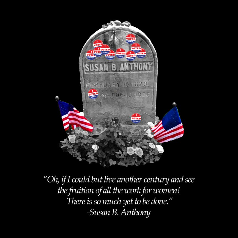 "Memorial to the 19th Amendment: Susan B. Anthony Headstone with ""I Voted"" Stickers Men's V-Neck by shaggylocks's Shop"