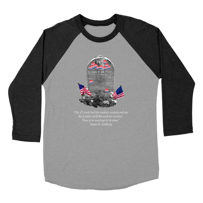 """Memorial to the 19th Amendment: Susan B. Anthony Headstone with """"I Voted"""" Stickers Men's Longsleeve T-Shirt by shaggylocks's Shop"""