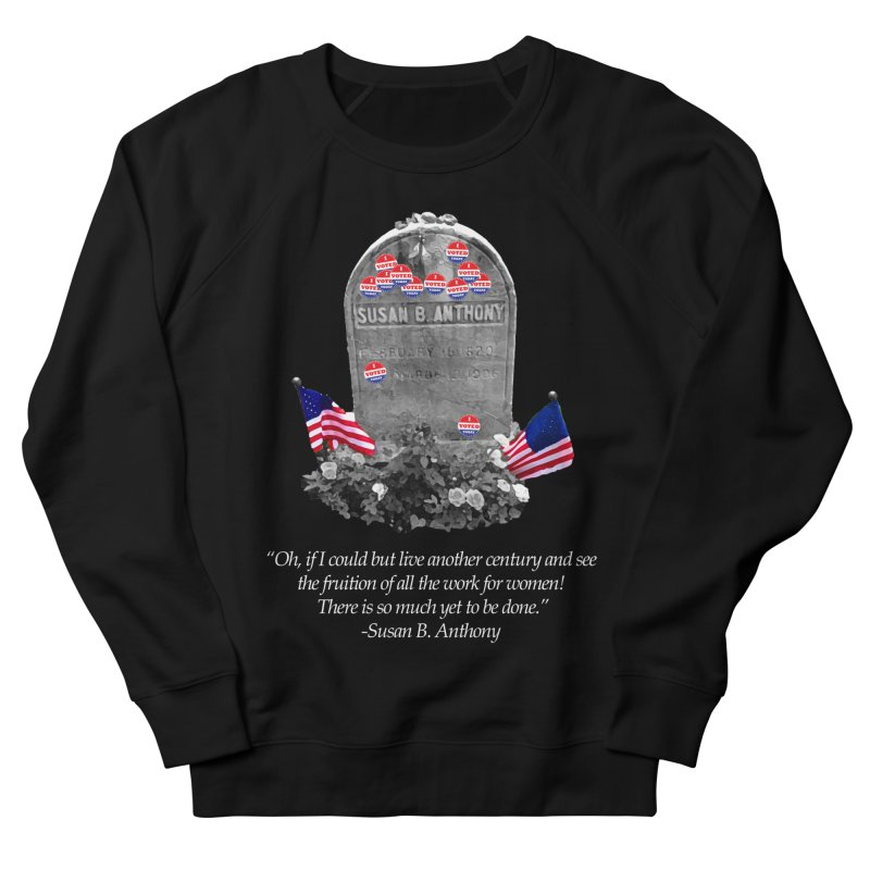 """Memorial to the 19th Amendment: Susan B. Anthony Headstone with """"I Voted"""" Stickers Women's Sweatshirt by shaggylocks's Shop"""