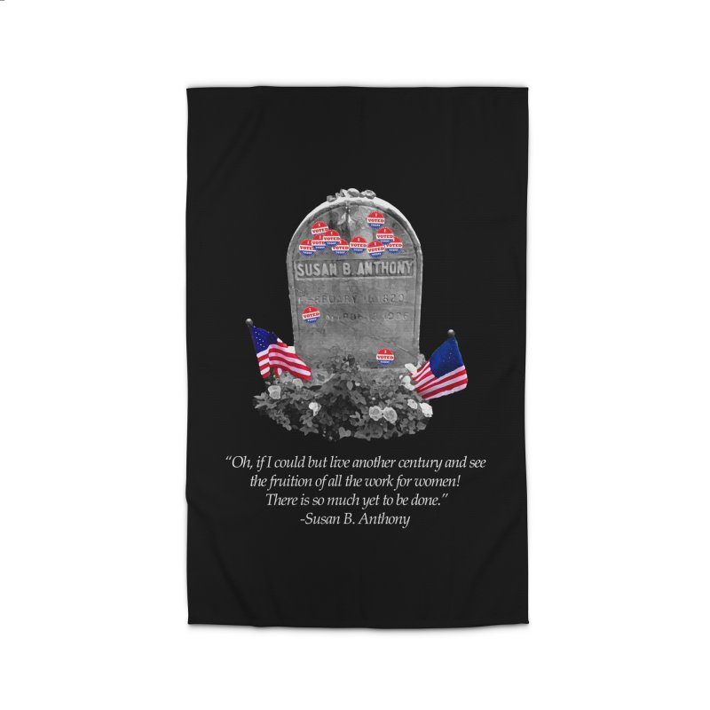 """Memorial to the 19th Amendment: Susan B. Anthony Headstone with """"I Voted"""" Stickers Home Rug by shaggylocks's Shop"""