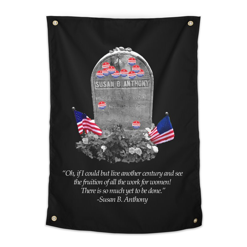 """Memorial to the 19th Amendment: Susan B. Anthony Headstone with """"I Voted"""" Stickers Home Tapestry by shaggylocks's Shop"""