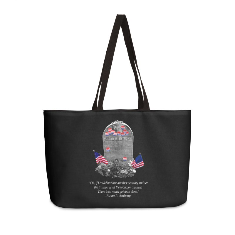 """Memorial to the 19th Amendment: Susan B. Anthony Headstone with """"I Voted"""" Stickers Accessories Bag by shaggylocks's Shop"""