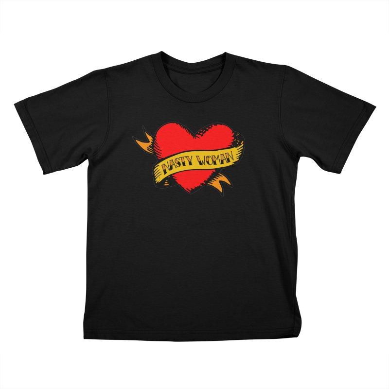 Hillary Clinton Nasty Woman Tattoo Kids T-Shirt by shaggylocks's Shop